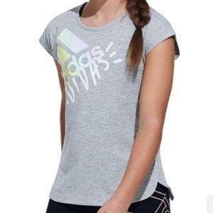 Big Girls Large or ladies small gray adidas shirt